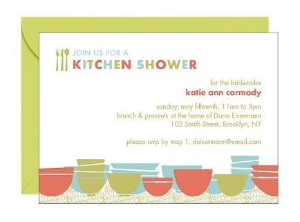 Photo Credit: Paper Source, Kitchen Bridal Shower Invitation